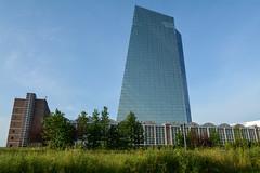 Europische Zentralbank EZB mit Gromarkthalle (mercatormovens) Tags: grosmarkthalle ezb frankfurt ostend europischezentralbank sommer