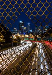 Midnight Rush (Ethan Turner_) Tags: city longexposure light game canon fence highway pittsburgh steel trails frame metropolis tones vanguard 412 pghcreative