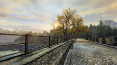 VOEC - 034 (Screenshotgraphy) Tags: sunset sky mountain lake game nature colors architecture clouds contrast montagne landscape pc screenshot lumire couleurs country lac ethan steam gaming ciel beaut carter concept nuages paysage vanishing campagne beautifull jeu naturelle urbain