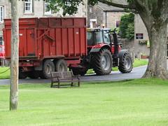 Burnsall, Hebden & Grassington 27.6.2016 (23) (bebopalieuday) Tags: tractor farming trailer silage northyorkshire wharfedale yorkshiredales burnsall masseyferguson 7624 triffitt