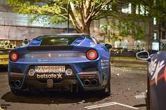 Colourful Ferrari (Beyond Speed) Tags: auto london night nikon ferrari gtb supercars automobili f12 tdf gumball3000 488 f12tdf