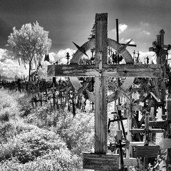 P1040138_fhdr crosses (Bill Abrams) Tags: blackandwhite bw stpetersburg ir infrared lithuania balticstates hillofcrosses odysseysunlimited