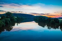 Main (schulze31) Tags: river sonnenuntergang main himmel fluss bume langzeitbelichtung longtimeexposure