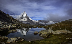 Riffelsee (leoskar) Tags: alps reflections mirror switzerland landscapes suisse zermatt matterhorn wallis valais