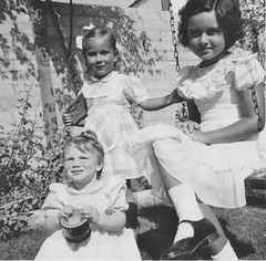 Susan, Melody, Candy 1954 (candyruth) Tags: family sisters cousins 1954 sundaybest top20op