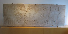 "A Roman marble with Latin text (""COL IVL AVG FAV PAT BARCIN"" short for ""Colonia Julia Augusta Faventia Paterna Barcino"") about Barcino which is the antic name of the Catalan city of Barcelona. Around 10 BC Roman Emperor Augustus (Joe Geranio) Tags: julia pat caesar augusta fav iconography avg romanemperor romanbust paterna 1stcenturyad ivl princeps romanhead julioclaudian firstcenturyad earlyimperialperiod julioclaudianportraitstudy romanportraitstudy celator earlyromanempire romancaesar faventia romanaretratto aromanmarblewithlatintextcol barcinshortforcolonia barcinoaboutbarcinowhichistheanticnameofthecatalancityofbarcelonaaround10bcromanemperoraugustus"