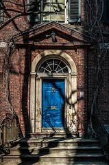 The Fletcher Memorial Home? (PM Breakfast) Tags: door nyc newyorkcity blue shadows manhattan bricks pinkfloyd uppereastside turtlebay odc fletchermemorialhome ourdailychallenge 1suttonplacenorth