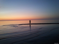 Lonely sunset (Babak Habibi) Tags: sunset sea iran   shomal  mahmoudabad