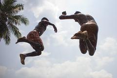 Bum chik bum !! (PrashantKr) Tags: summer india lake playing hot beach water fun jump heat splash jumps tamilnadu cwc