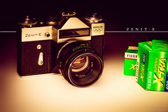 vintage Zenit-E (Terence S. Jones) Tags: vintage 50mm oldschool russiancameras zenite canon7d lightroom4 filmisforever