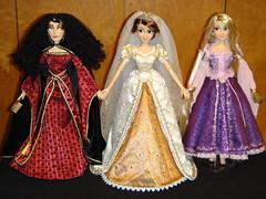 Tangled 17'' LE Dolls - Mother Gothel, Wedding Rapunzel, Blonde Rapunzel - Full Front View #2 (drj1828) Tags: wedding inch mother blonde 17 limited edition rapunzel tangled gothel