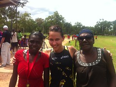 """Nadine with two Ramingining locals • <a style=""""font-size:0.8em;"""" href=""""https://www.flickr.com/photos/64883702@N04/7117269767/"""" target=""""_blank"""">View on Flickr</a>"""