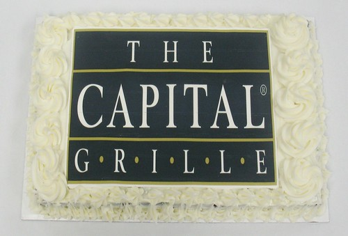 [Image from Flickr]:The Capital Grille logo cake