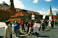 Demonstration of some communist diehards on the Red Square, Moscow  (Happy May 1st !) (Frans.Sellies) Tags: lenin russia moscow may communist socialist stalin imm020