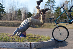 Bike Accident (Bekah Tadych) Tags: face bike neck break accident falling your