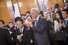Peter Ramsauer attends the Presidency Reception hosted by the Japanese Minister