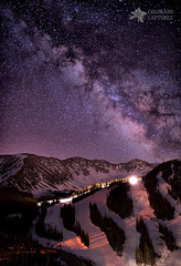 Starlight Mountain Ski Hill (Mike Berenson - Colorado Captures) Tags: sky mountain mountains night stars colorado dillon rockymountains allrightsreserved lovelandpass summitcounty snowcats milkyway arapahoebasin Astrometrydotnet:status=failed coloradocaptures copyright2012bymikeberenson Astrometrydotnet:id=alpha20121161379242