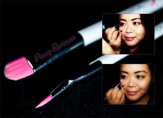 Concealer and my favorite bent eyeliner brush!