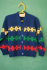 Vintage Mustang Argyle Cardigan (honor) Tags: boy girl vintage sweater toddler mustang etsy argyle cardigan