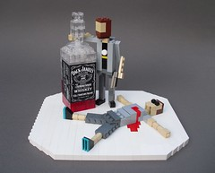 """Never get between a Canadian and his liquor!"" (Ochre Jelly) Tags: bacon gun lego harley whisky jackdaniels moc afol youtube epicmealtime musclesglasses"
