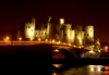 Conwy Castle At Night (Serge Freeman) Tags: old uk longexposure bridge castle wales night river lights towers conwy
