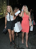 Lauren Pope and Frankie Essex as Chloe Green previews her debut CJG shoe collection at Topshop Oxford Circus. London, England