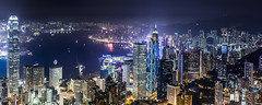 Hongkong Night View from the Peak (.Gianluca) Tags: light panorama holiday colors skyline river hongkong commerce delta pear resolution thepeak thekong 2raw gettychinaq2 gettychina12q2