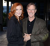Marcia Cross and Tom Mahoney Celebrities outside the RTE studios for 'The Saturday Night Show' Dublin, Ireland