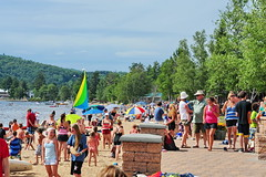 02 Camp of the Woods Beach Party (Adventure George) Tags: summer vacation usa newyork beach sand unitedstates newyorkstate recreation speculator adirondack hamiltoncounty lakepleasant adirondackpark campofthewoods nikond700 photogeorge naturalsandbeach