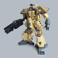 Naka X6 - Heavy Gunner (Fredoichi) Tags: lego space military police walker micro mecha mech microscale fredoichi gundamtype patlabortype