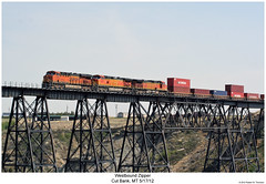 Westbound Zipper (Robert W. Thomson) Tags: railroad trestle bridge train montana diesel railway trains trainengine ge bnsf locmotive dash944cw burlingtonnorthernsantafe cutbank dash9 es44dc gevo c449w es44 evolutionseries sixaxle cutbankcreek