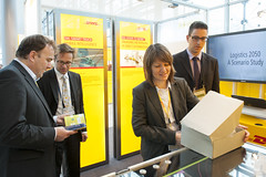 Demonstration of DHL parcel logistics