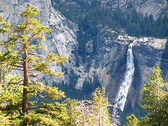Nevada Fall (MarkusR.) Tags: california vacation panorama usa mountains nature berg landscape nationalpark wasserfall urlaub natur berge yosemite dome halfdome fascination landschaft kalifornien gebirge sentineldome nevadafall faszination markusrieder mrieder 20110923usa55