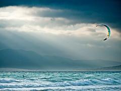 Cometa (Franci Esteban) Tags: surf kay playa tarifa cometa loslances kaysurf atlntio