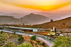Sunset at Sunset point.. (Muslim Kapasi) Tags: road trees sunset sky urban cars landscape raw traffic vehicles hdr hoardings