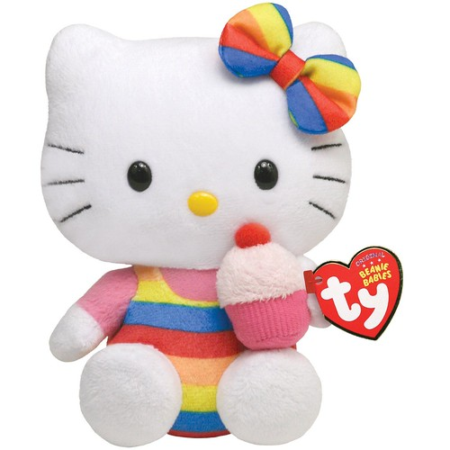Ty Beanie Baby Hello Kitty 凯蒂猫毛绒玩具