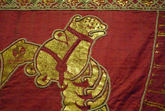 Coronation Mantle, detail of camel head