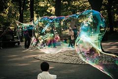 (onesevenone) Tags: park city nyc newyorkcity urban ny newyork america unitedstates centralpark manhattan bubble gothamist eastcoast onesevenone rainbowbubble