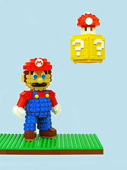 Super Mario Sculpture (Legohaulic) Tags: sculpture mushroom lego nintendo mario commission