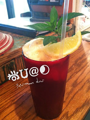 Homemade Ice Tea (The Papemoon Diner) Tags: restaurant diner baltimore icetea comfortfood papermoondiner lemonsorbet papermoondinerspecial