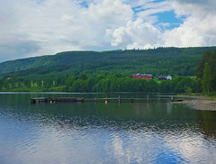 Fra Randsfjorden #2 (Krogen) Tags: nature norway landscape norge natur norwegen noruega scandinavia krogen landskap noorwegen noreg skandinavia hadeland randsfjorden oppland fujifilmx10