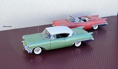 1957 Cadillac Eldorado Biarritz & Seville (JCarnutz) Tags: seville cadillac eldorado 1957 biarritz diecast 124scale danburymint