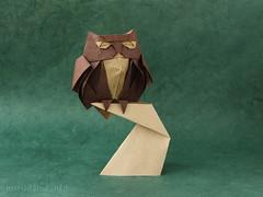 Owl by Roman Diaz (ronatka) Tags: origami owl bakingpaper romandiaz unryupaper origamishopcom