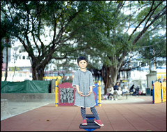 My Small Stage. (MichelleSimonJadaJana) Tags: portrait color 120 girl childhood children hongkong kid pentax scanner documentary lifestyle snaps epson medium format 6x7  smc f28 67ii flatbed jada 75mm pentax67 vuescan v750 gtx970