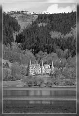 Loch Achray (Craig1331) Tags: bw white black water hotel scotland location loch aberfoyle achray katerine