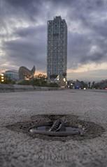 Perspectiv Arts (kiiiwiii) Tags: barcelona tower port puerto hotel torre fuji bcn arts perspectiva olimpic xt1 kiiiwiii kiiiwiiiphotography
