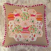 Princess & the pea and the frog cushions. (MissCavalla) Tags: princessandthepea pompoms hexagon heatherross