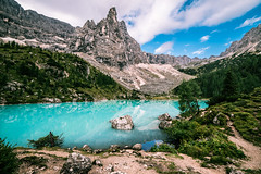 Sorapiss (Andrea Securo) Tags: lake mountains travelling up montagne trekking walking landscape landscapes san long exposure hiking stones live extreme over free running adventure trail majestic martino trentino dolomites matternhorn