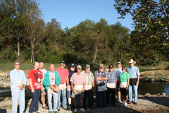 Volunteers assemble to assist with the Reaching For Rainbows Special Needs Kids Fishing Derby at Wolf Creek NFH (USFWS Fish and Aquatic Conservation) Tags: friends fishing education kentucky volunteers conservation visitors derby outreach usfws wolfcreek hatchery fishandaquaticconservation
