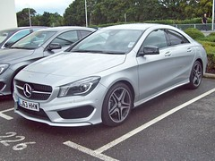 161 Mercedes CLA 220 (C117) AMG Sports Coupe (2013) (robertknight16) Tags: germany mercedes sportscar amg brooklands c117 2010s cla220 merdesworld lj63hhw